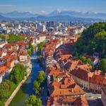 Ljubljana panorama view