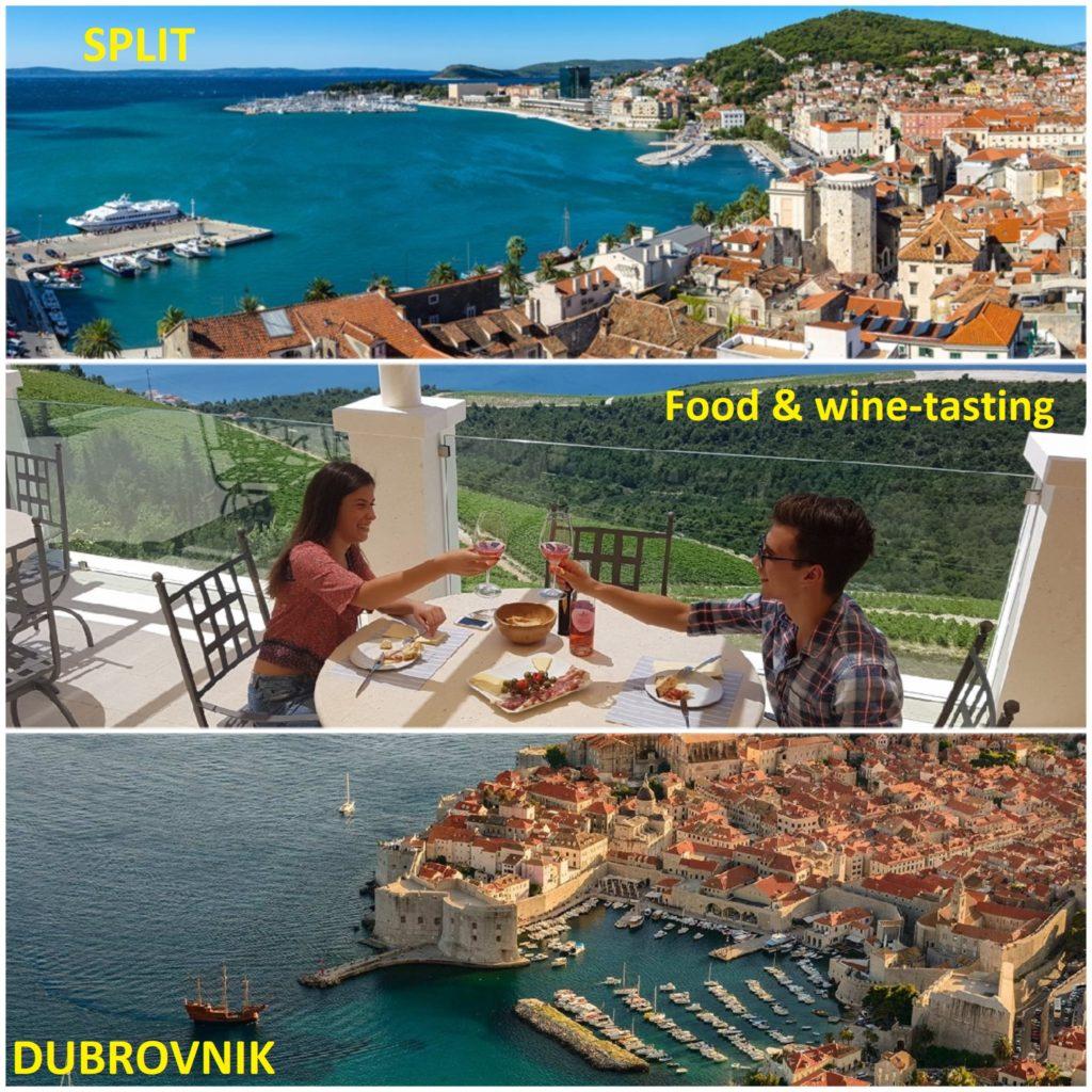 Split to Dubrovnik Scenic Winetasting Trip